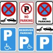 "Stock Vector: ""parking"" and ""no parking"