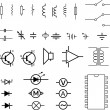 Electronic symbols - vector - Stock Vector