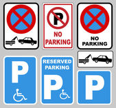 """parking"" y ""no parking — Vector de stock"