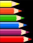 Colored pencils — Vetorial Stock