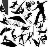 Sport extrême — Vecteur