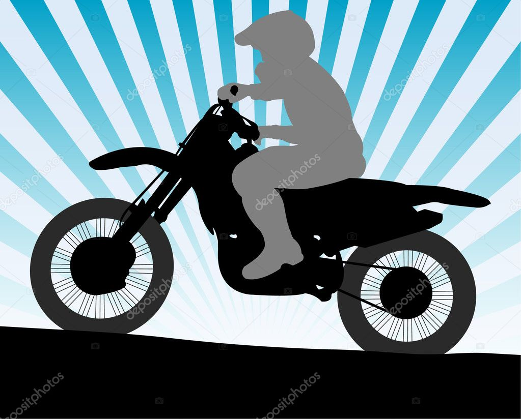 Motorcyclist - vector — Stock Vector #2661919