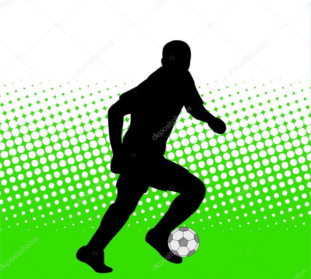 Artesanato Lembrancinhas Passo A Passo ~ Jugador de fútbol en el fondo abstracto u2014 Vector stock u00a9 nebojsa78 #2662092