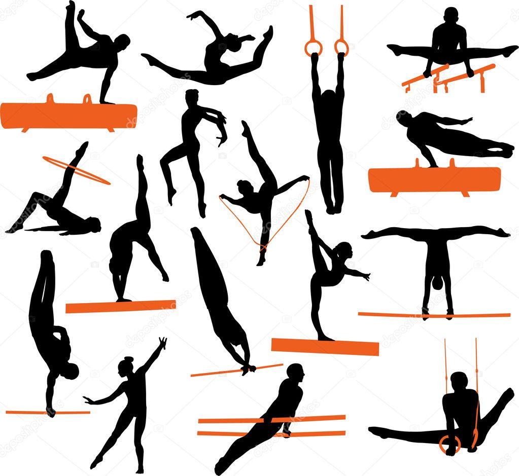 Рисунок о спортивной гимнастике