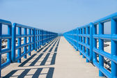 Walkway In Blue — Stock Photo