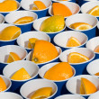 Oranges In A Cup — Stock Photo