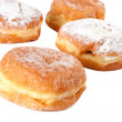 Four Sugar topped Paczki — Stock Photo