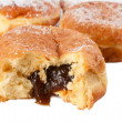 Prune filled Paczek — Stock Photo