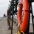 Stock Photo: Pier Lifebouoy