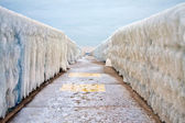 Ice Vanishing Point — Stock Photo