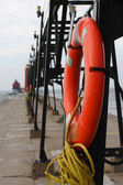 Pier Lifebouoy — Stock Photo