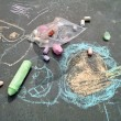 Sidewalk Chalk Art — Foto Stock
