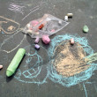 Stock Photo: Sidewalk Chalk Art