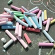 Sidewalk Chalk — Foto Stock
