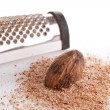 Stock Photo: Nutmeg and Grater