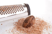 Nutmeg and Grater — Stock Photo