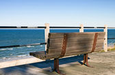 Bench on the Lake — Stock Photo