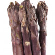 Stock Photo: Purple Asparagus Spears Vertical