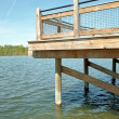 Fishing Dock Vertical — Stock Photo