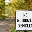 No Motorized Vehicles — Stockfoto