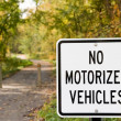 No Motorized Vehicles - Stock Photo