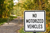 No Motorized Vehicles — Stock Photo
