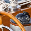 Royalty-Free Stock Photo: Rudder and compass