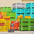 Stock Photo: Coloured crates