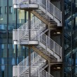 Fire escape stair — Stock Photo