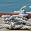 Moored boat — Stock Photo