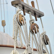 Vintage sailboat detail - Stock Photo