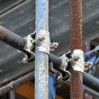 Scaffolding clamps — Foto Stock