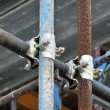 Scaffolding clamps — Foto de Stock