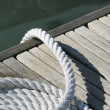 Rope on a jetty — Stock Photo