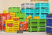 Coloured crates — Stock Photo