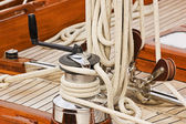 Winch rope and pulleys — Stock Photo