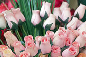 Wooden tulips — Stock Photo