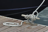 Mooring boat — Stock Photo