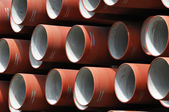 Red pipes — Stock Photo