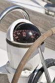 Compass on a boat — Stock Photo