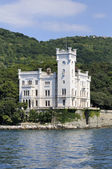 Trieste (Italy), Miramare Castle — Stock Photo