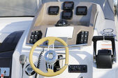 Motorboat cockpit — Stock Photo