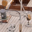 Wooden sailboat — Foto de Stock