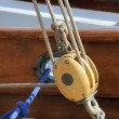 Sailing pulley - Stock Photo