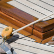 Sailboat detail - Stock Photo