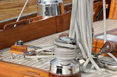 Sailboat deck — Stock Photo