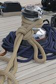 Sailboat detail — Stock Photo