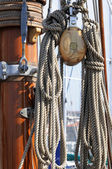 Sailboat detail — Stock Photo