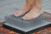 Bed of nails — Stock Photo