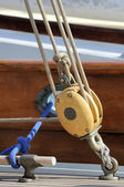 Sailing pulley — Foto de Stock
